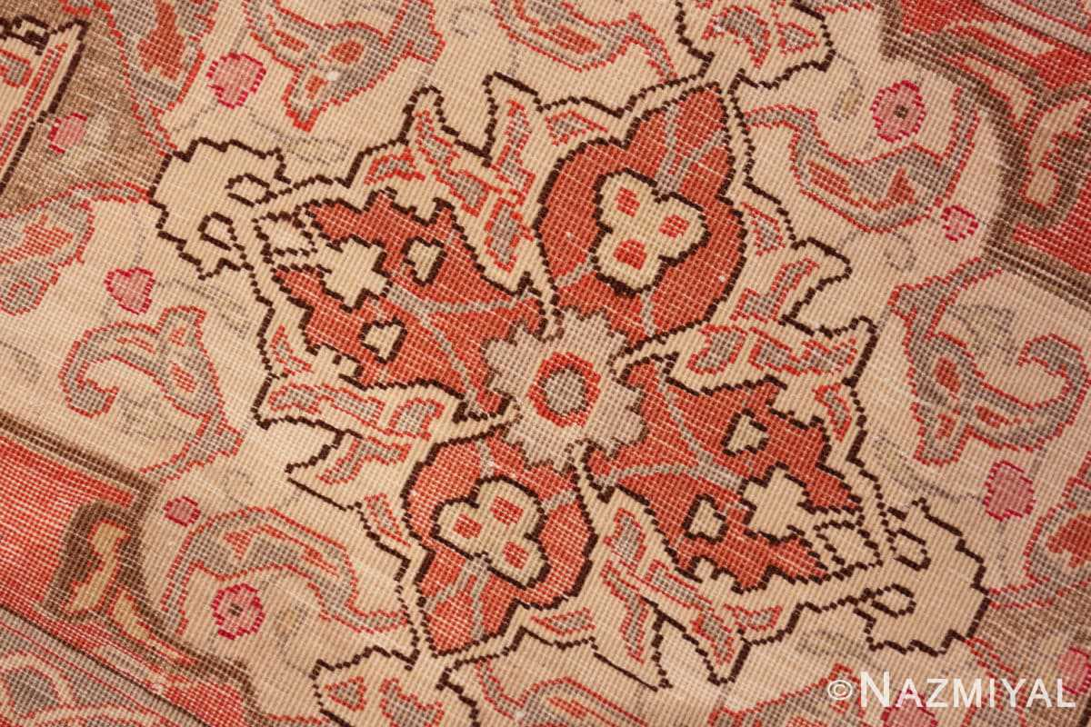 Weave detail Silk and wool room sized Tabriz Persian carpet 50251 by Nazmiyal