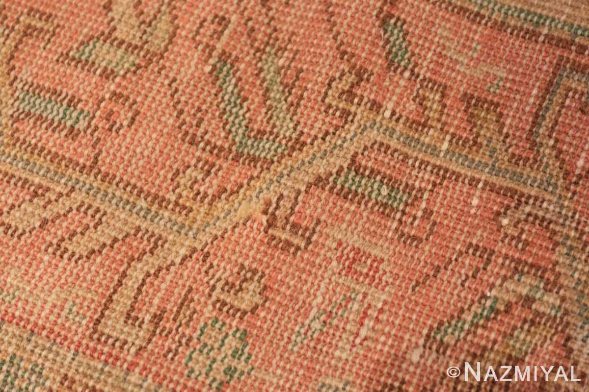 Weave detail Vintage Turkish Sivas carpet 50327 by Nazmiyal Antique Rugs in NYC