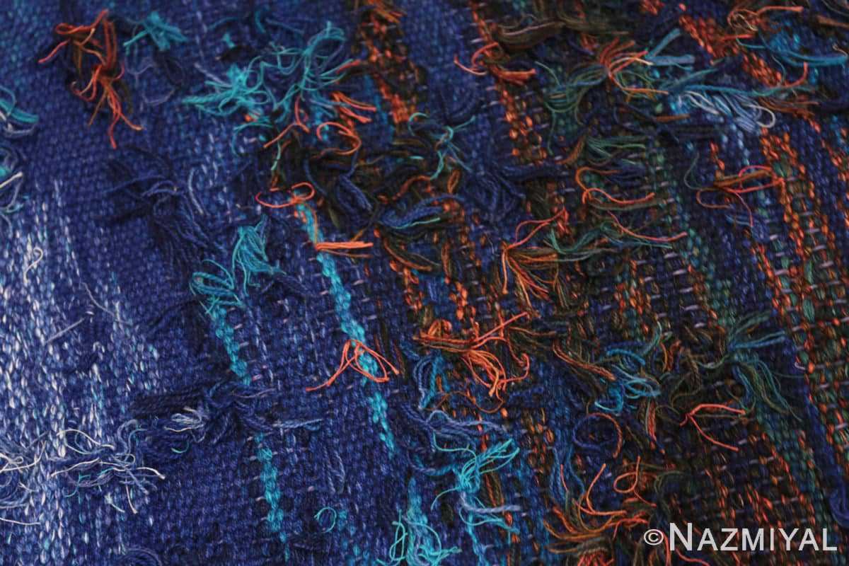 Weave detail vintage Scandinavian Was at sea designed by Brita Molin carpet 48514 from Nazmiyal antique rugs collection