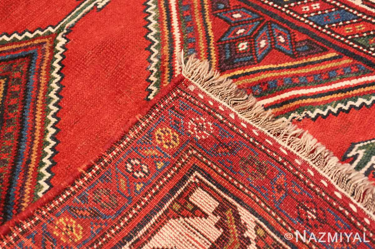 Weave Antique red color Persian Ghashgai runner rug 50301 by Nazmiyal
