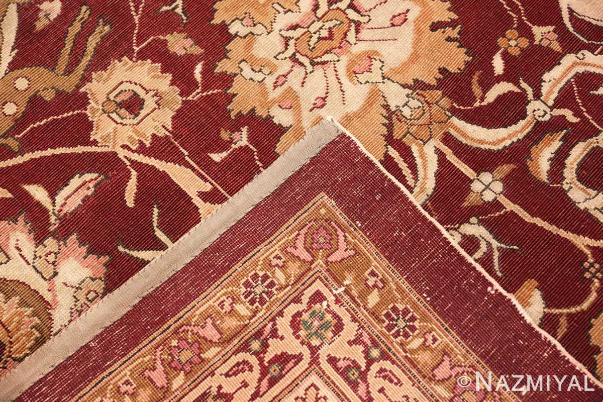 Weave Room size Antique Indian agra rug 50250 by Nazmiyal
