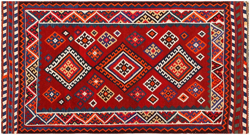 Antique Persian Ghashgai Rug 50269 Nazmiyal