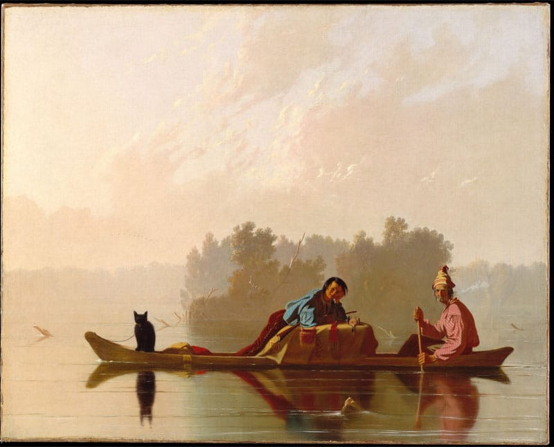 Fur Traders Descending the Missouri by George Caleb Bingham Nazmiyal