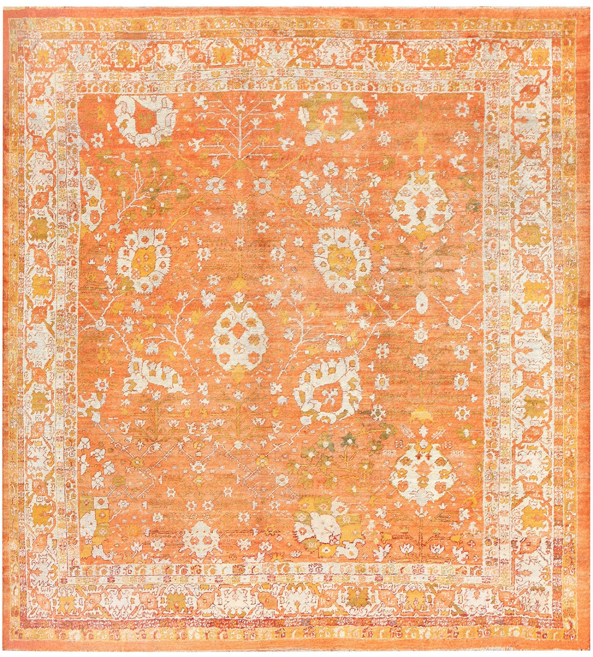 Nazmiyal Angora Antique Turkish Oushak Rug 50209
