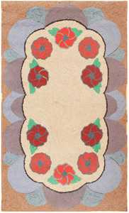 Antique American Hooked Rug 2562 Detail/Large View