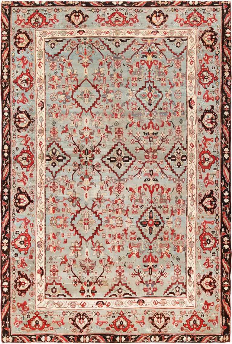 antique indian agra rug 2983 Nazmiyal
