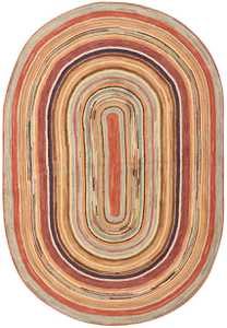 Antique Oval American Hooked Rug 1445 Nazmiyal