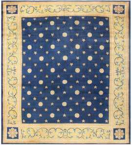 Antique Spanish Carpet with Celestial Design 48554 Nazmiyal