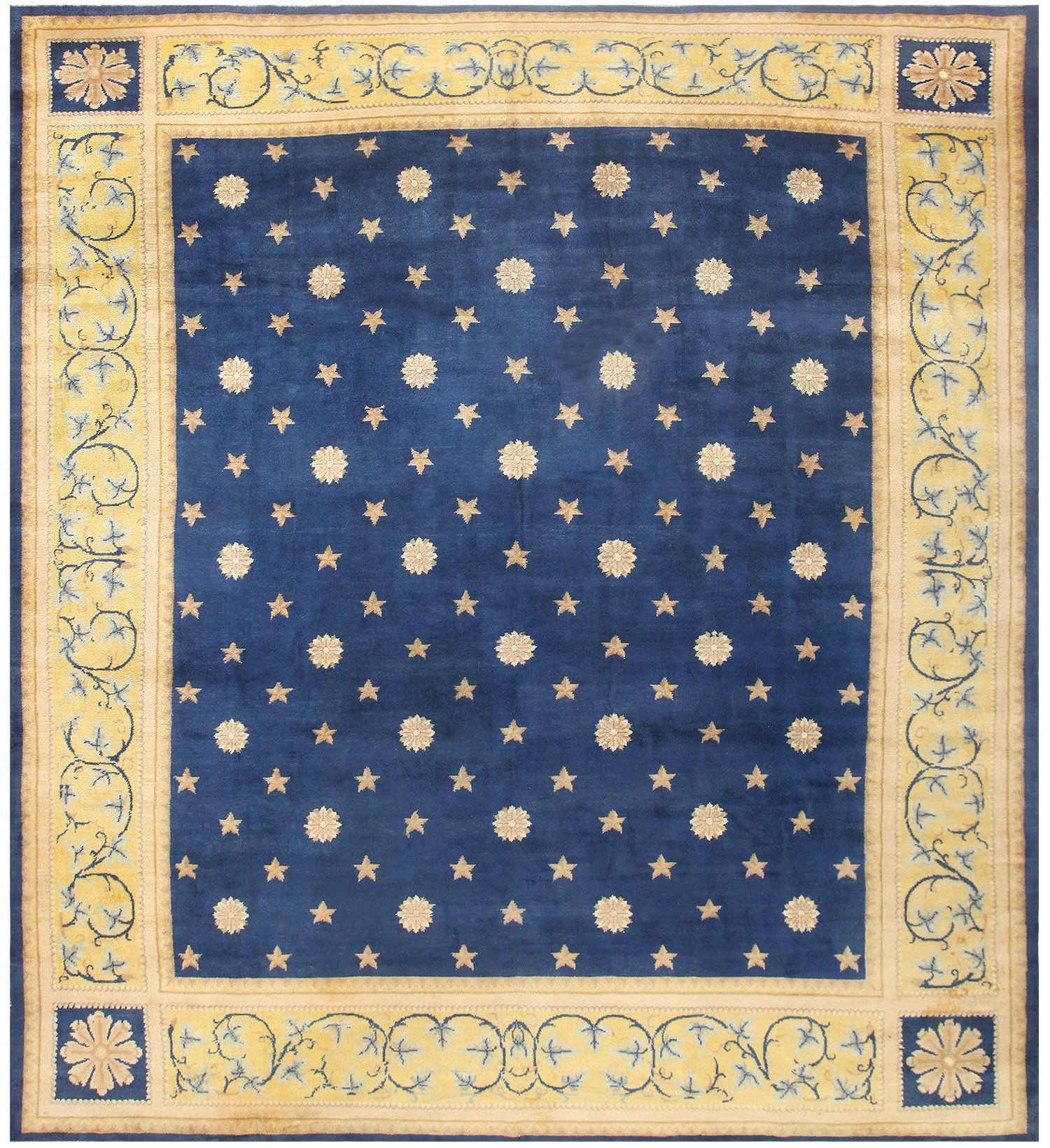 Nazmiyal | Antique Spanish Carpet with Celestial Design 48554