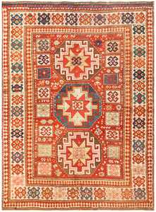 Antique Tribal Kazak Rug 50291 Detail/Large View