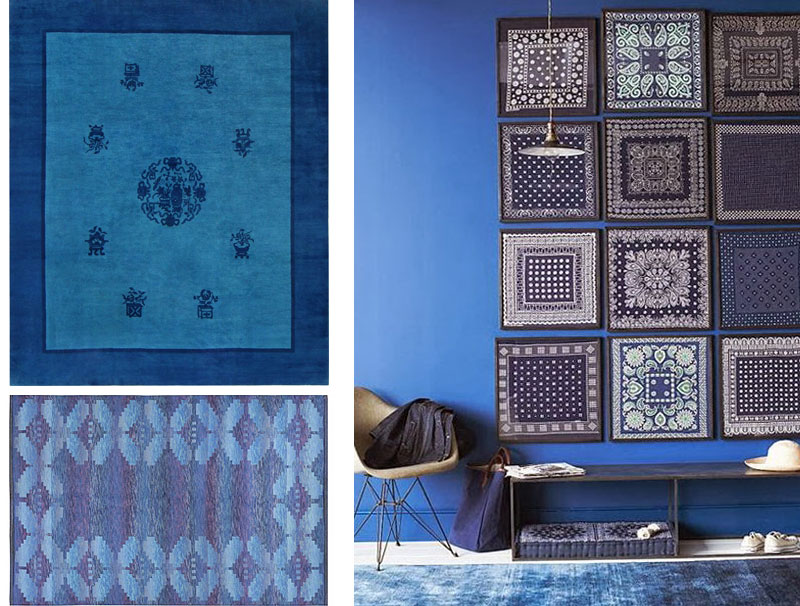 Cobalt Blue Rugs and Interior Design Trends by Nazmiyal