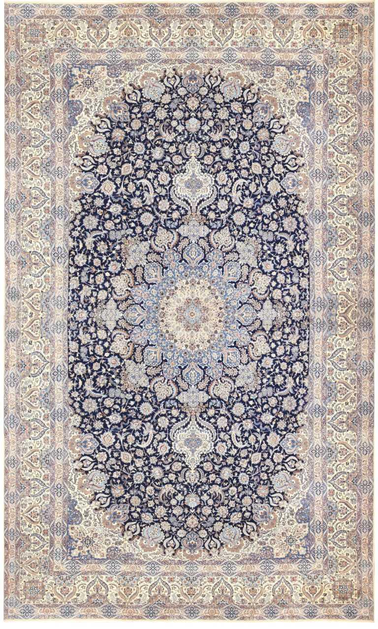 Extra Large Vintage Persian Nain Carpet 50324 Nazmiyal