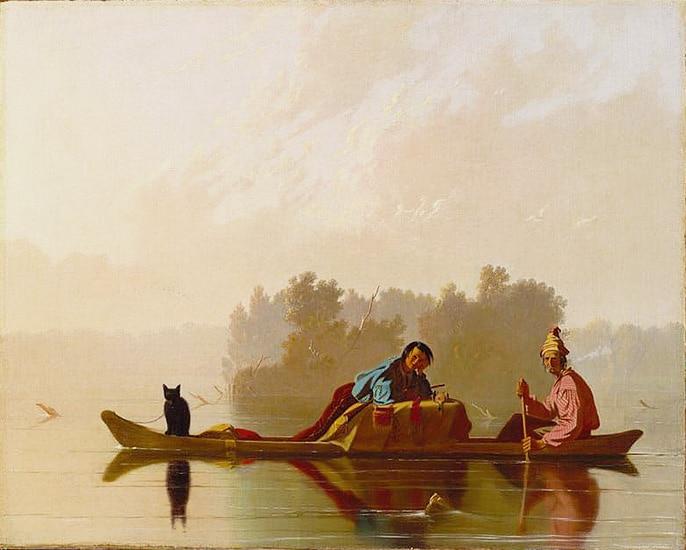 Fur Traders Descending the Missouri Painting by George Caleb Bingham - nazmiyal