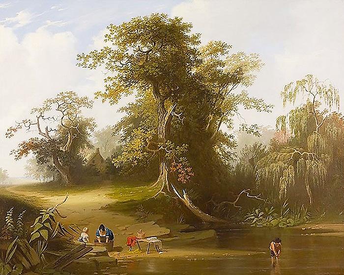 George Caleb Bingham Landscape Painting: Rural Scenery - nazmiyal