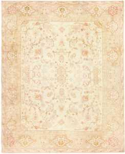Large Antique Turkish Oushak Rug 48473 Nazmiyal