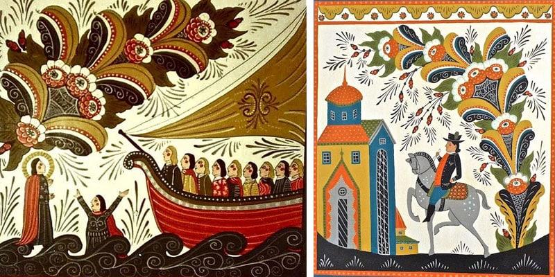 Scandinavian Folk Art Style by Nazmiyal