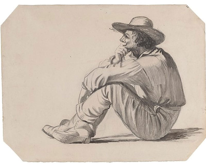 Study for Portrait of a Boatman, George Caleb Bingham. | Nazmiyal