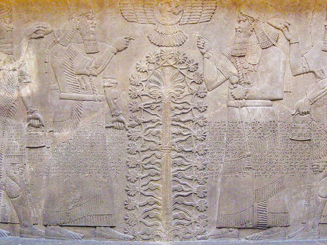 Tree Of Life Meaning As depicted in An Ancient Mesopotamian Slab by Nazmiyal