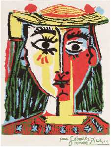 Vintage Pablo Picasso Rug 46873 Detail/Large View