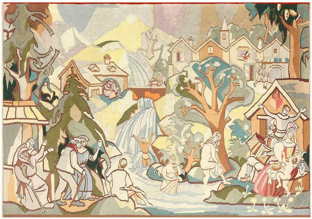 Nazmiyal Vintage Swedish Tapestry 48283