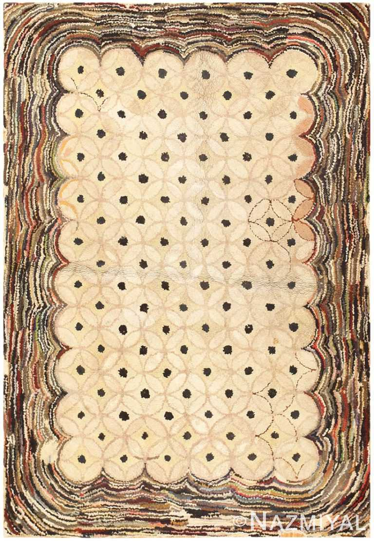 American Antique Hooked Rug 3187 Detail/Large View