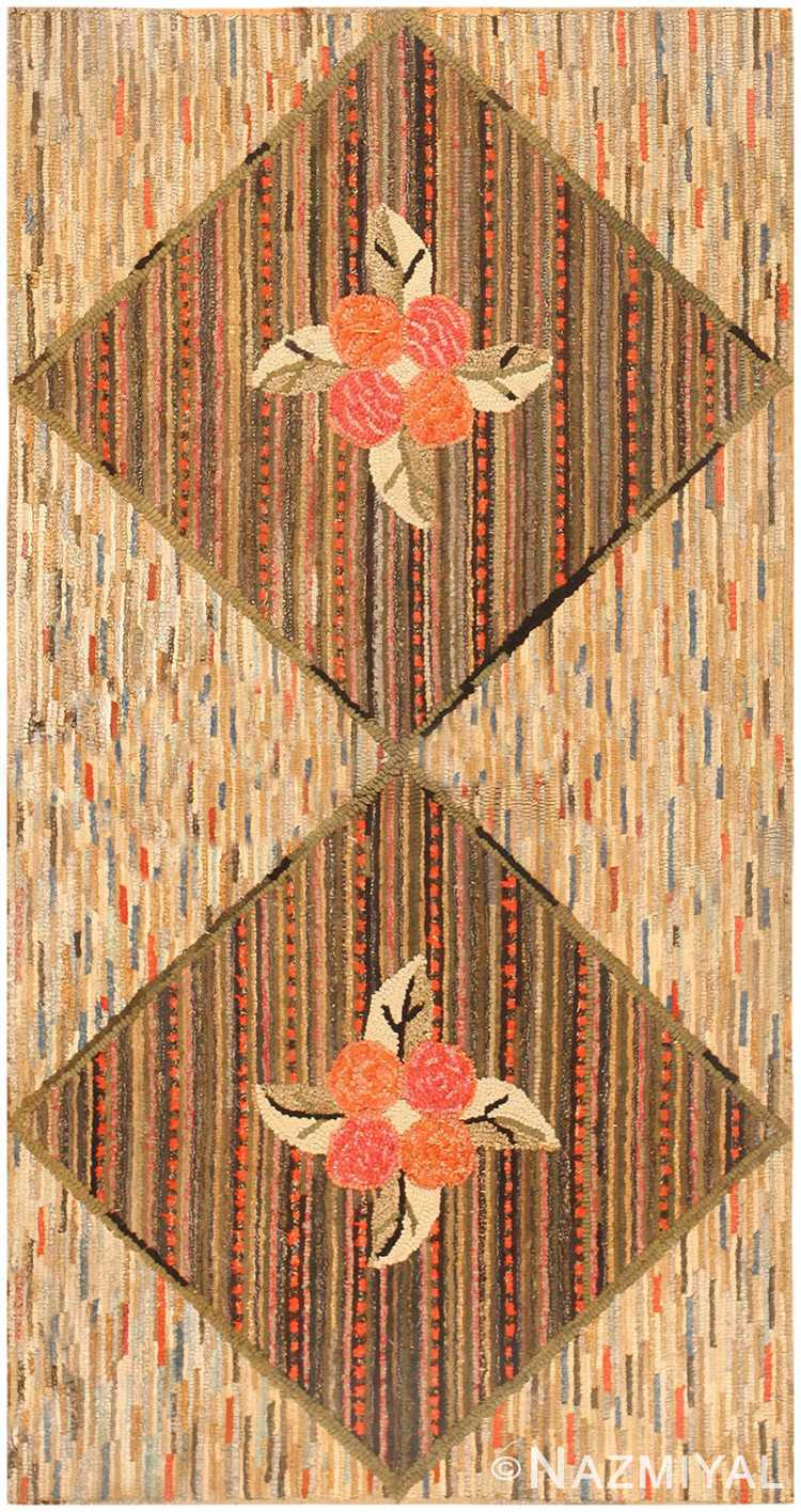 Antique American Hooked Rug 2697 Detail/Large View