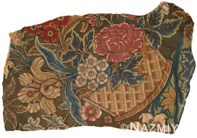 Antique European Needlepoint Fragment 40910 Nazmiyal