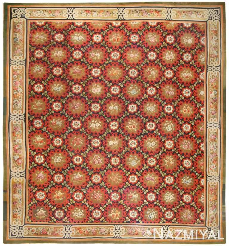 Antique French Aubusson Rug Circa 1850, 50143 Nazmiyal