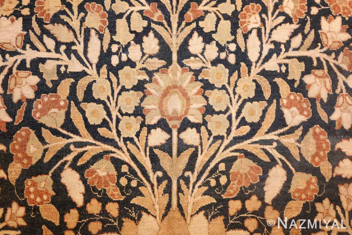 antique haji jalili tabriz carpet 50337 flower Nazmiyal