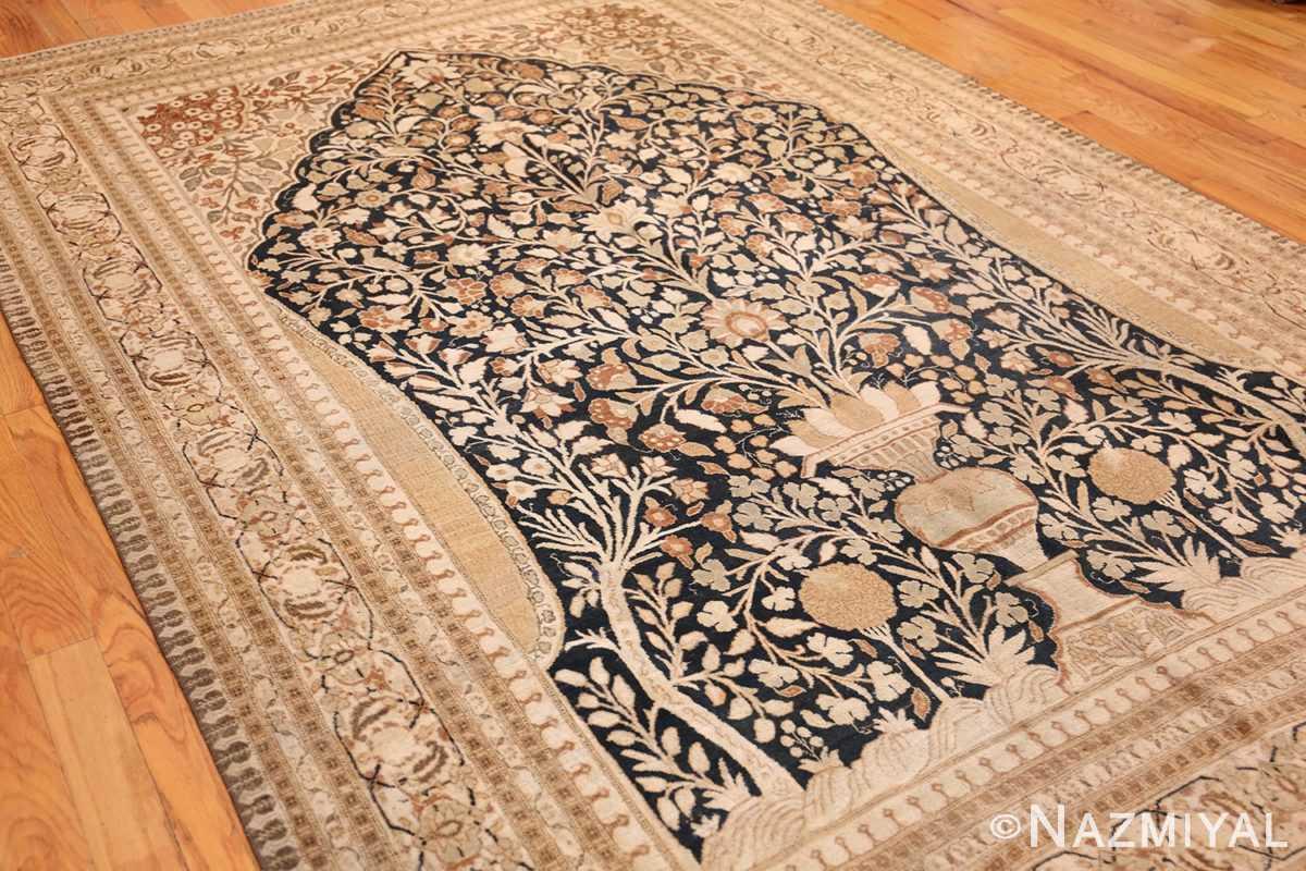 antique haji jalili tabriz carpet 50337 side Nazmiyal
