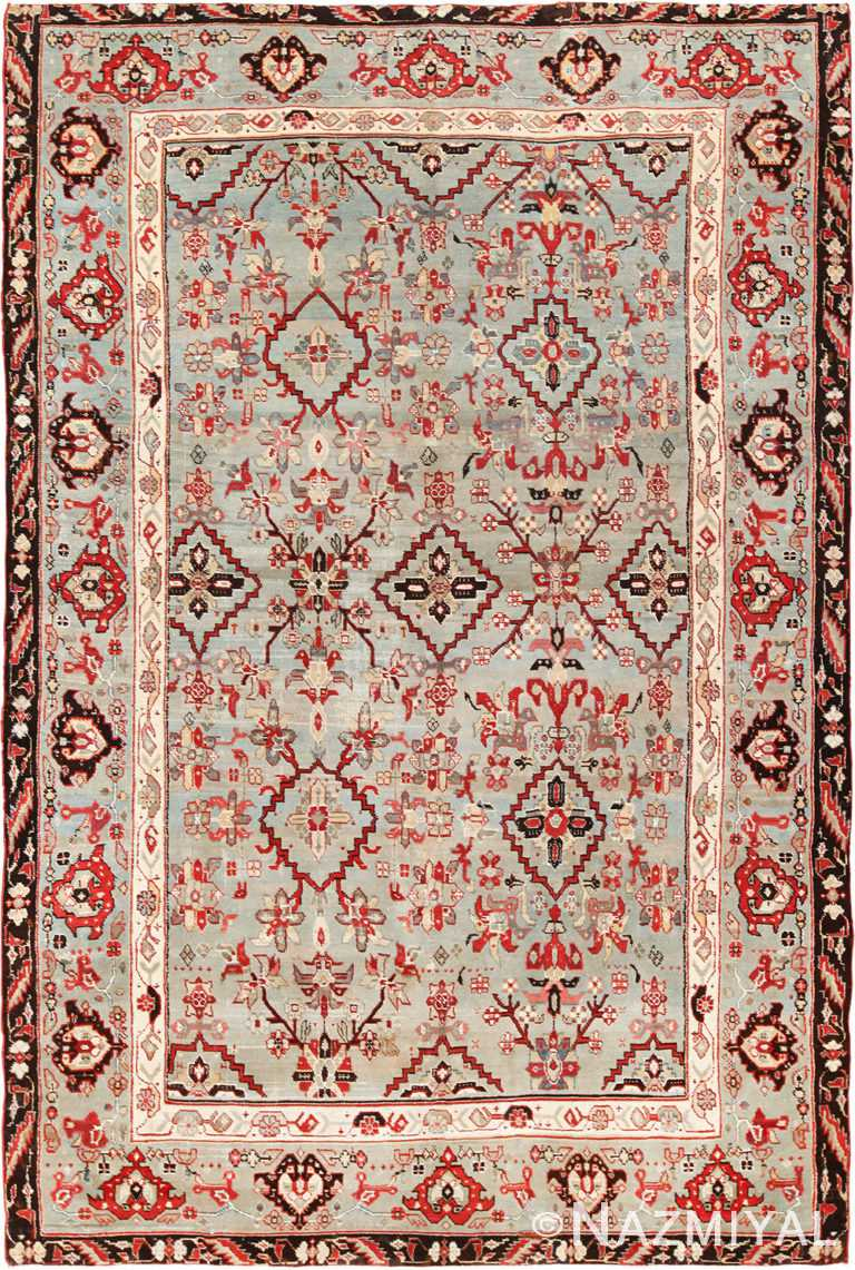 antique indian agra rug 2983 Nazmiyal