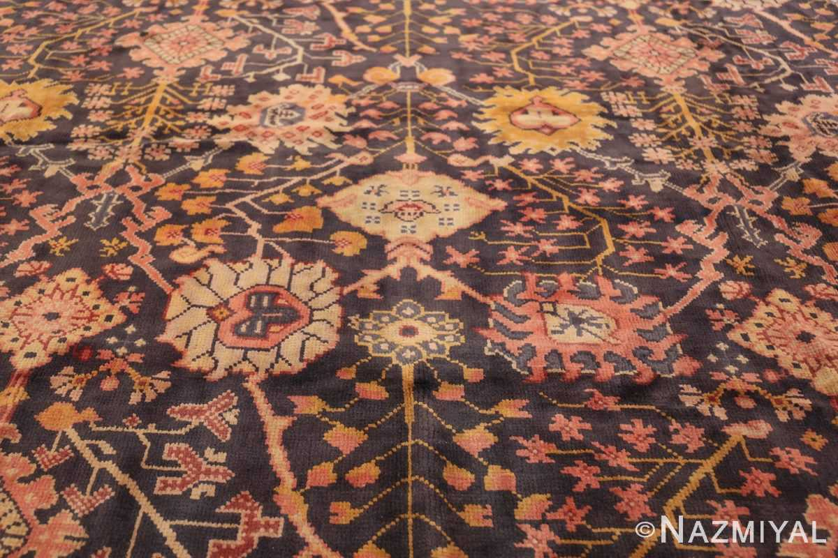 Antique Irish Arts and Crafts Rug 50336 Yellow Branches Nazmiyal