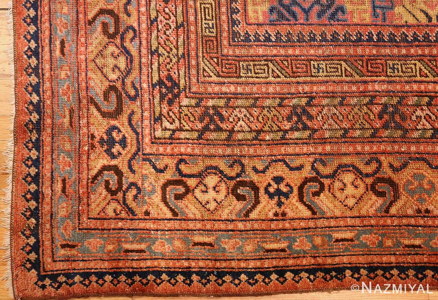 antique khotan rug 46595 corner Nazmiyal