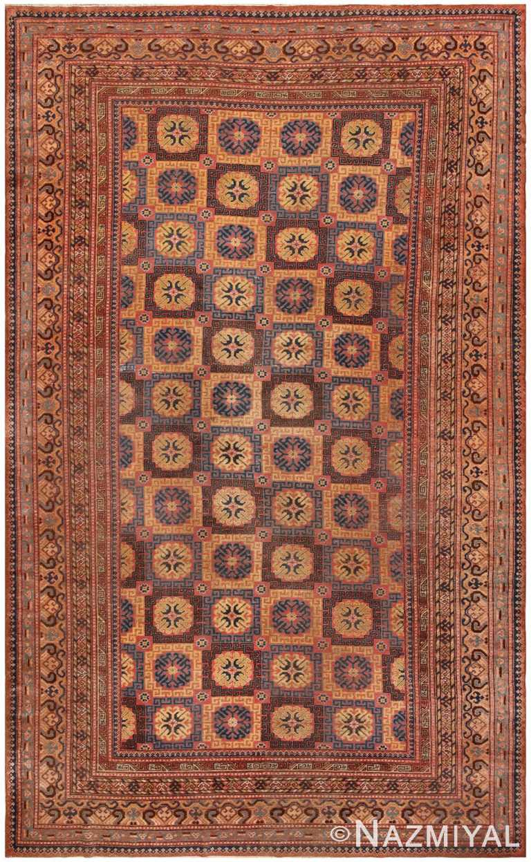 Tribal Antique Khotan Room Size Rug #46595 by Nazmiyal Antique Rugs