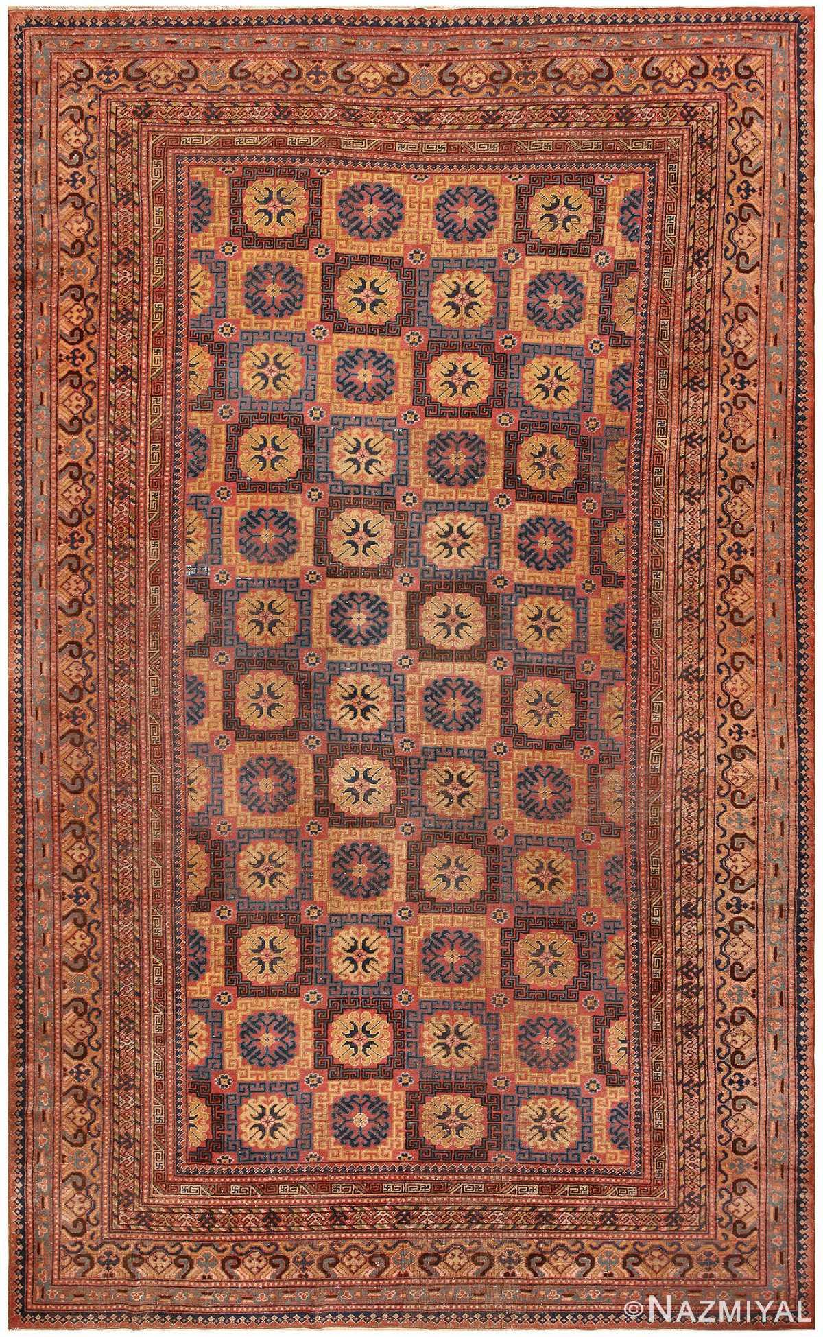 Antique Khotan Rug 46595 Detail/Large View