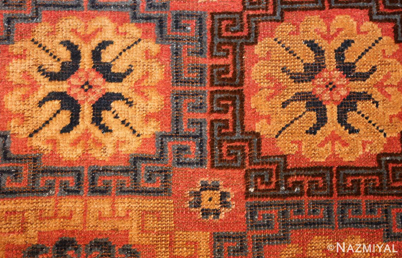 antique khotan rug 46595 flowers Nazmiyal