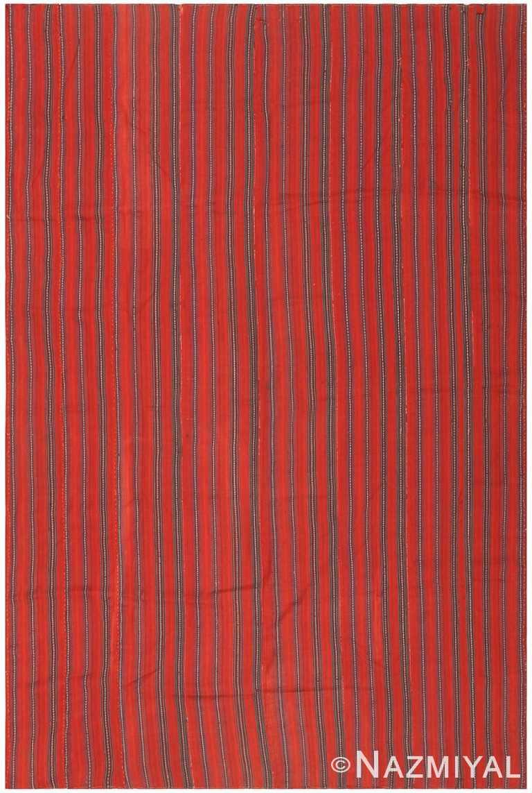 Red Antique Persian Jajim Kilim #47157 by Nazmiyal Antique Rugs