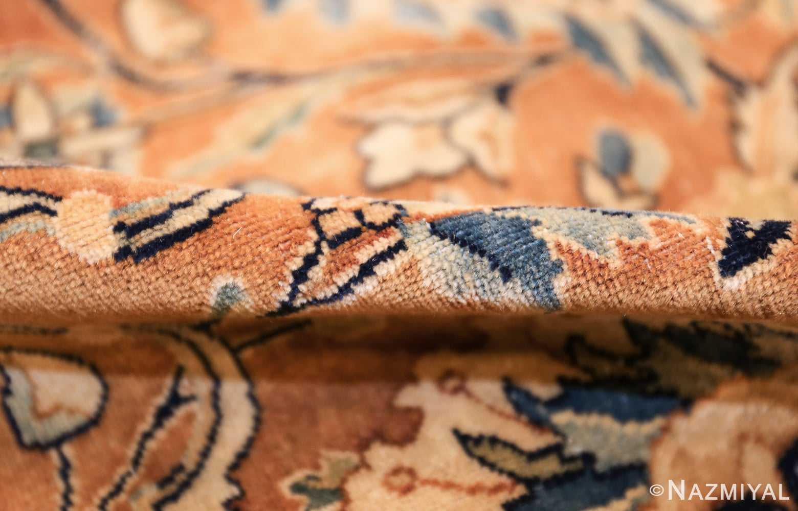 antique persian kerman carpet 50254 pile Nazmiyal