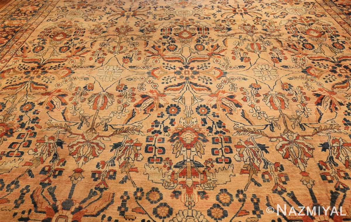 antique persian lilihan carpet 50191 field Nazmiyal