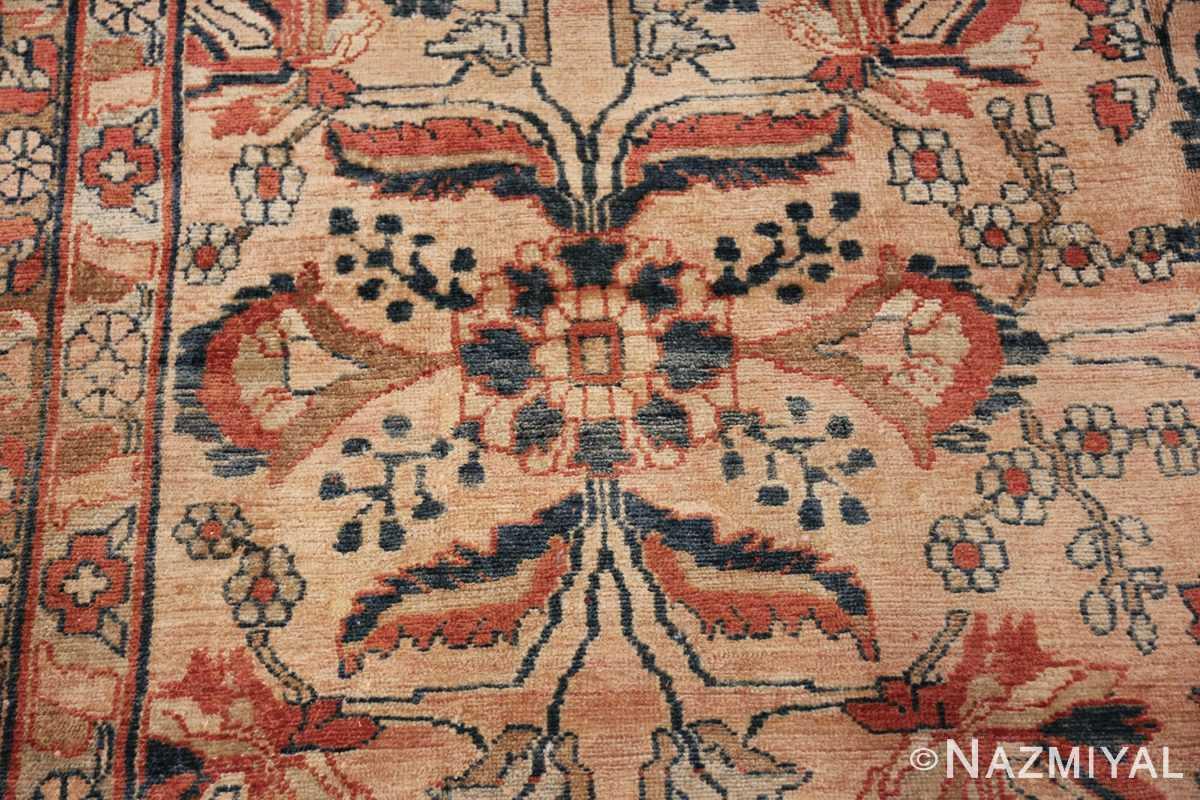 antique persian lilihan carpet 50191 flower Nazmiyal