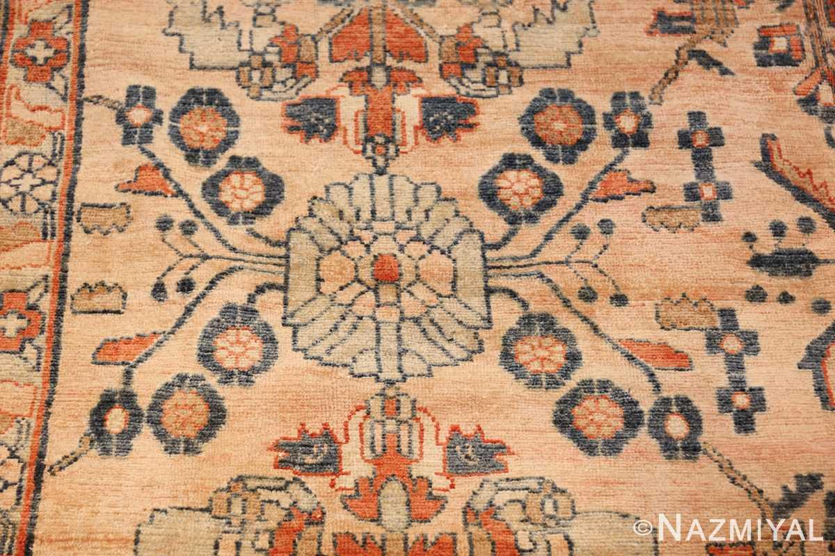 antique persian lilihan carpet 50191 ivory Nazmiyal