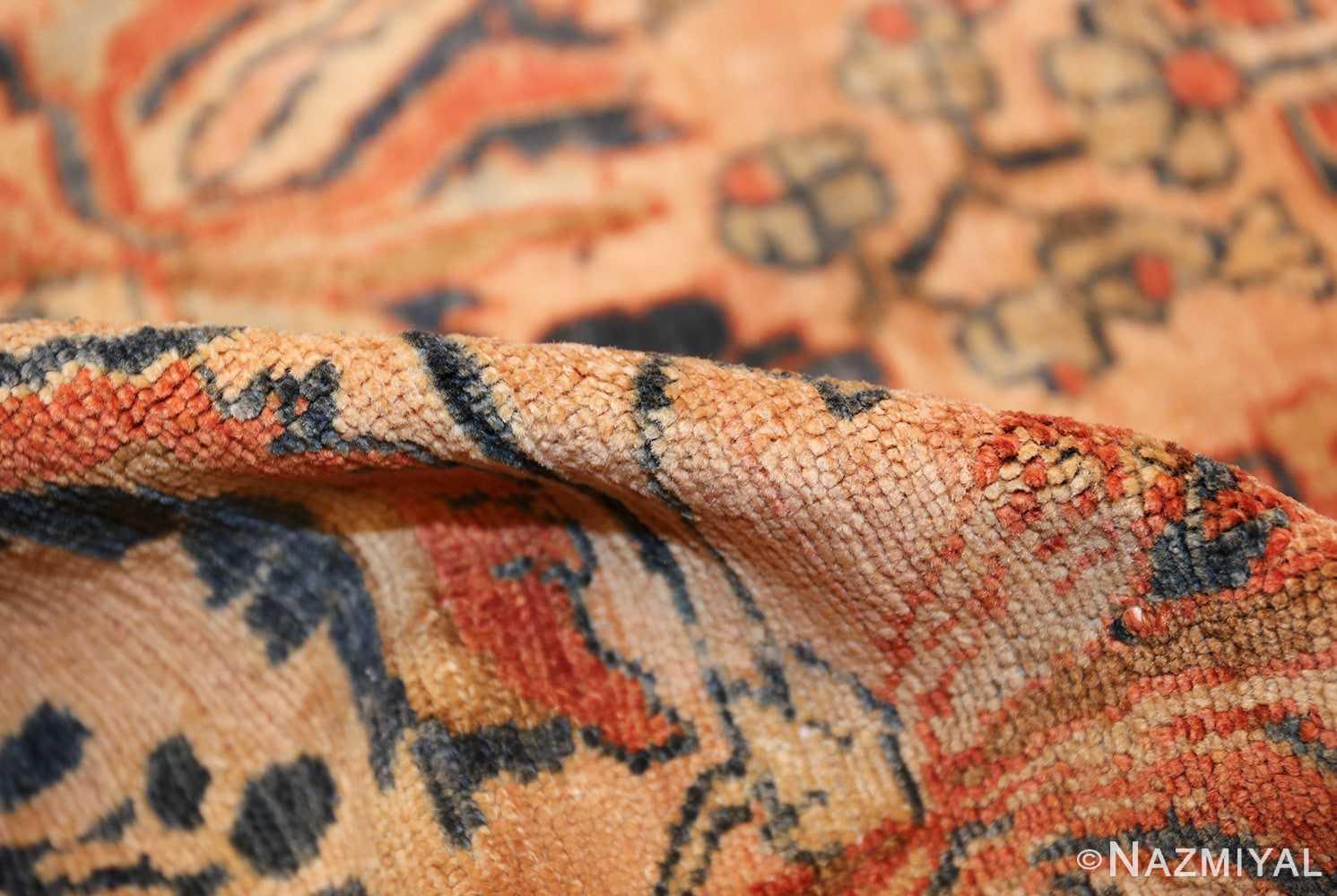 antique persian lilihan carpet 50191 pile Nazmiyal