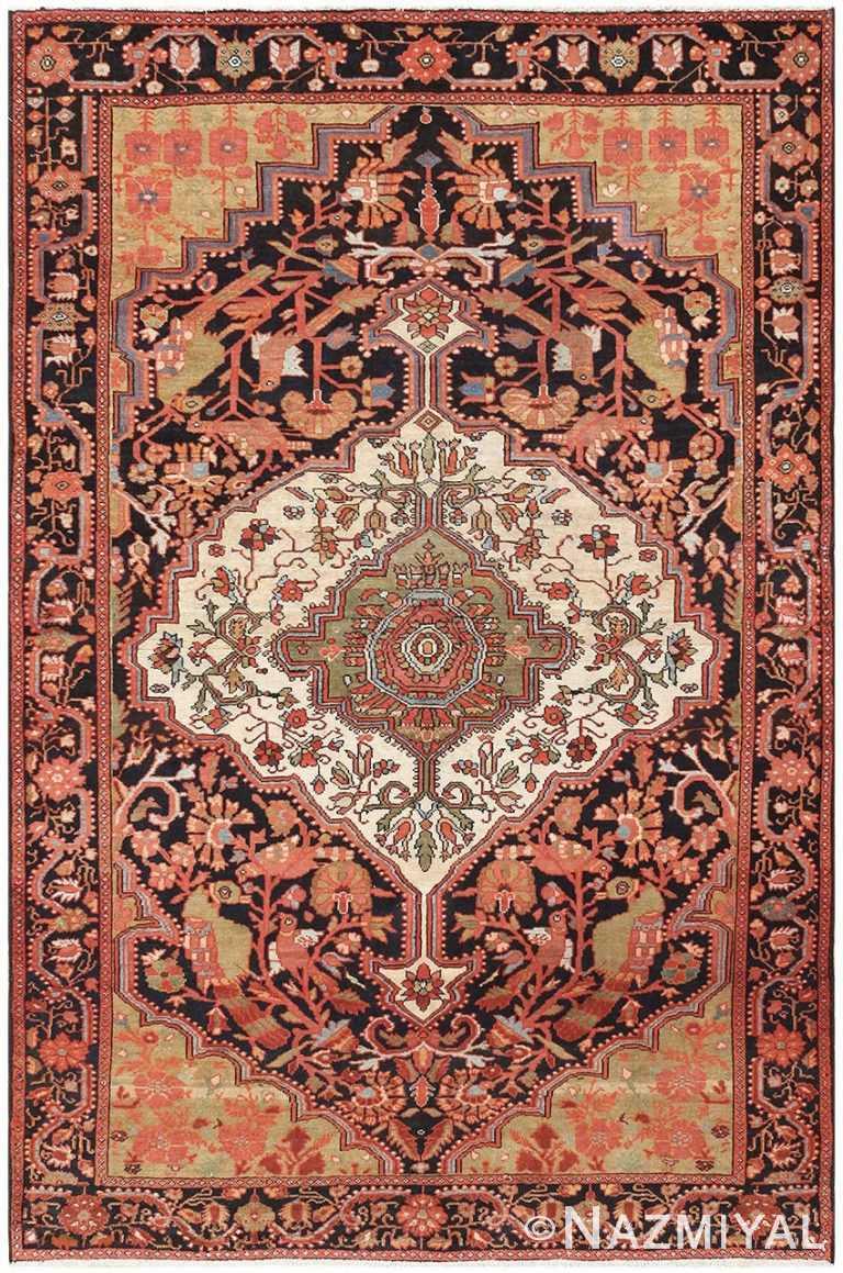 Antique Persian Sarouk Farahan Carpet 50240 Nazmiyal
