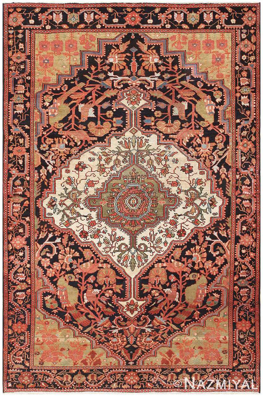 Antique Persian Sarouk Farahan Carpet 50240 Nazmiyal