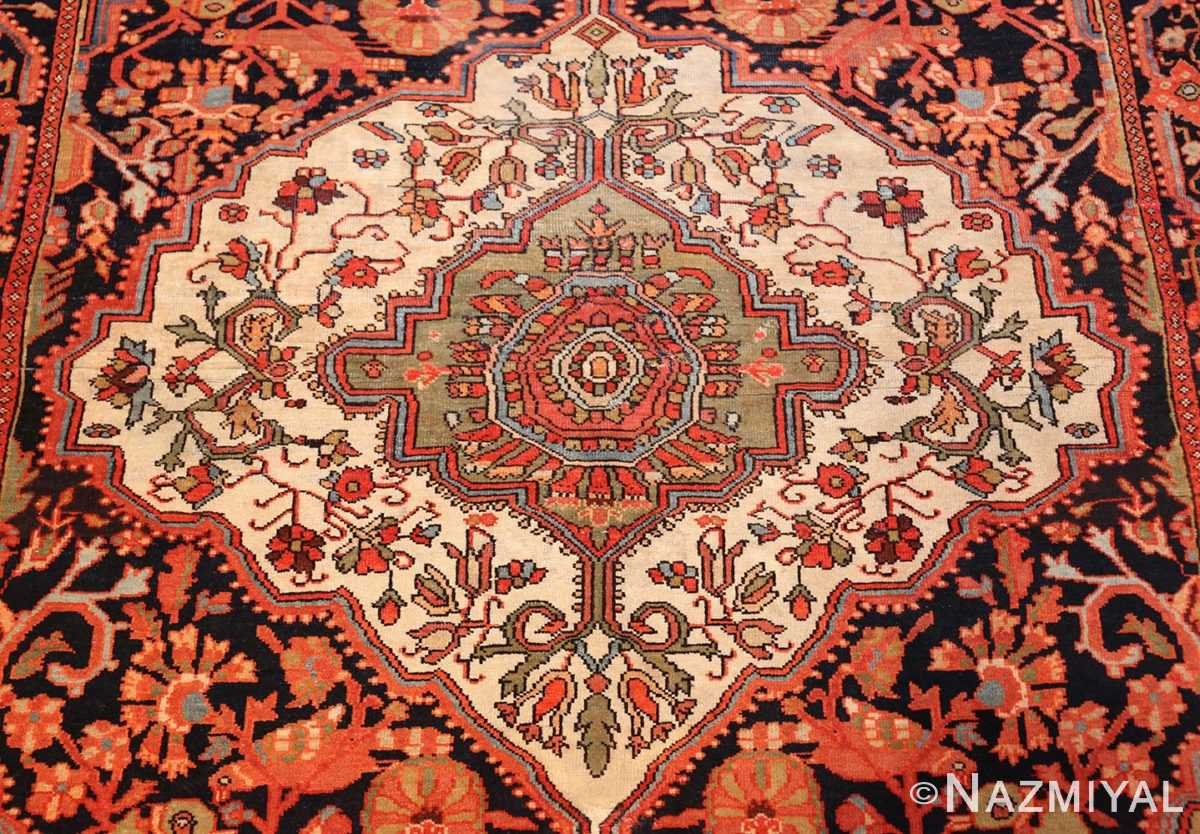antique persian sarouk farahan carpet 50240 medallion Nazmiyal