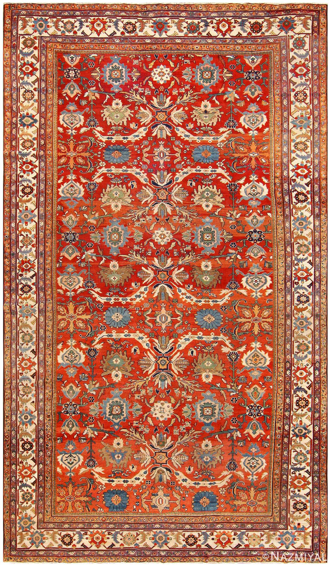 Antique Persian Sultanabad Carpet 48563 Nazmiyal