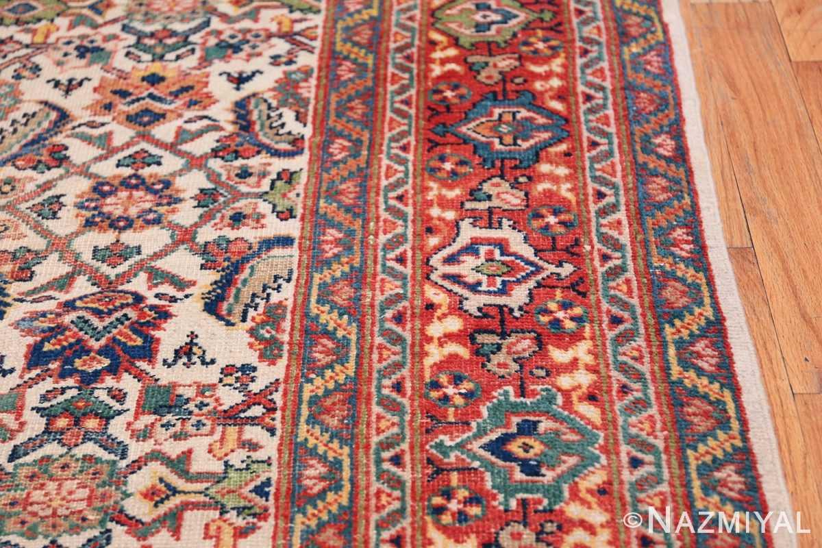 Antique Persian Sultanabad Carpet 50248 Border Design Nazmiyal