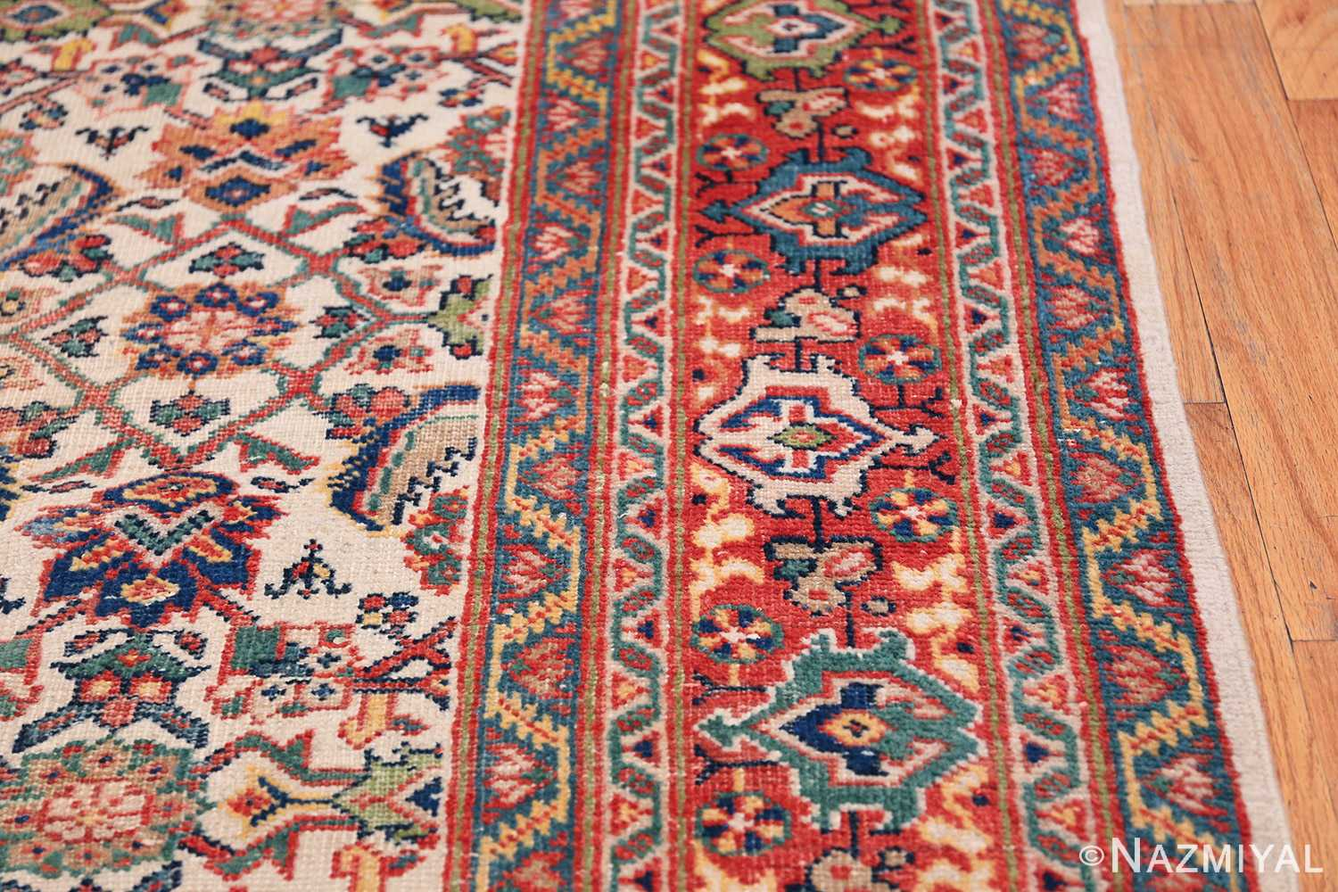 Antique Persian Sultanabad Carpet 50248 Border Design Nazmiyal
