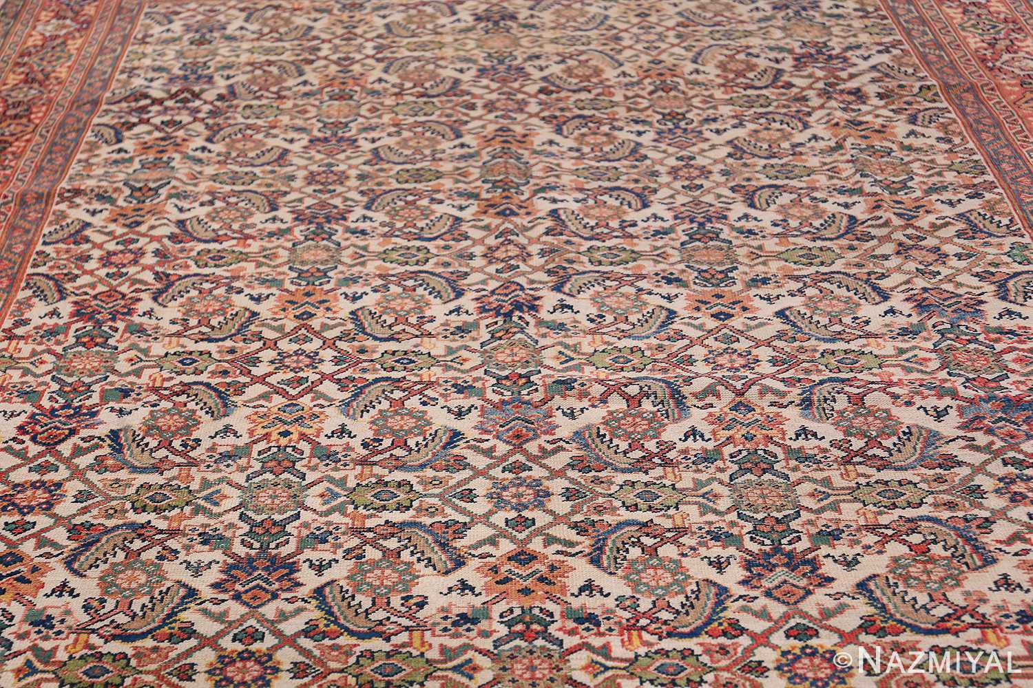 Antique Persian Sultanabad Carpet 50248 Field Wide Shot Nazmiyal