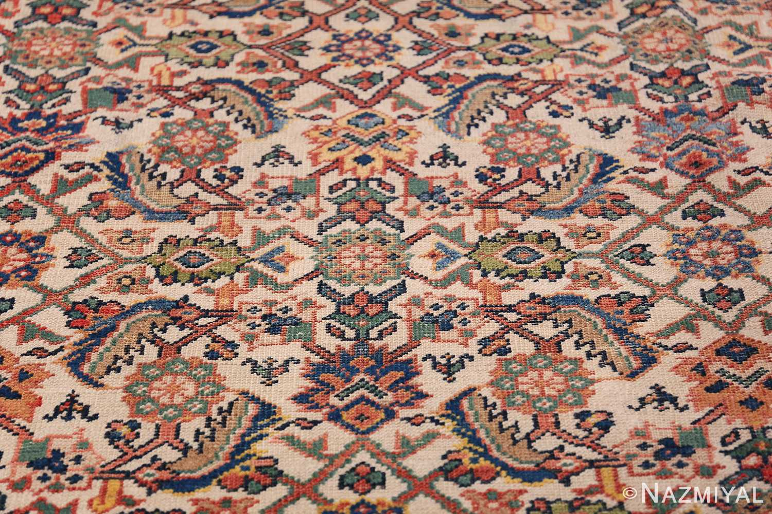 Antique Persian Sultanabad Carpet 50248 Floral Design Nazmiyal